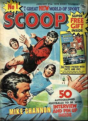 Scoop Comic No. 1 Dated 21 January 1978. Good Condition. Dc Thomson.