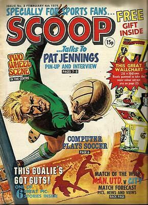 Scoop Comic No. 3 Dated 4 Febuary 1978. Very Good Condition. Dc Thomson.