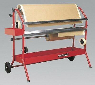 Sealey MK67 Masking Paper Dispenser 2 X 900mm Trolley Equipment Bodyshop
