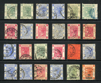 HONG KONG , TREATY PORTS , 24 x VICTORIA stamps used , unsorted