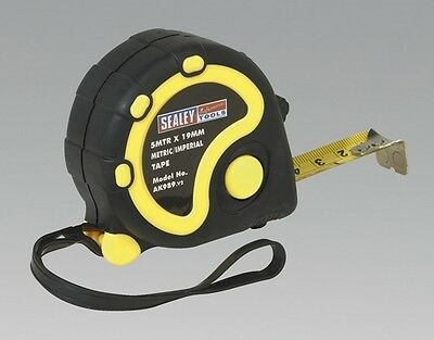 Sealey AK989 Rubber Measuring Tape 5M 16Ft X19mm Metric Imperial Workshop