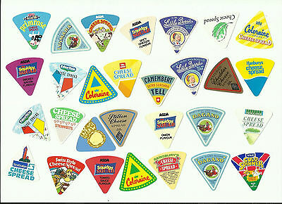 29 Small Cheese Labels - All Different And In Excellent Condition.