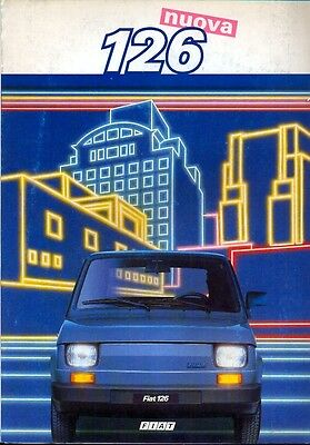 Fiat nuova 126 full colour 1985 sales brochure in Italian
