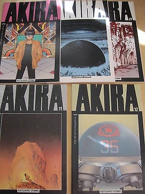 AKIRA : BUNDLE of #s  11,12,13,16,21. 5 DIFFERENT ISSUES. EPIC 1988 SERIES