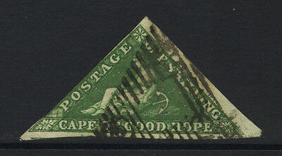Cape of Good Hope 1s Green Hope Imperf Triangle Used