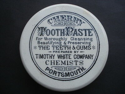 Cww1 Vintage Timothy White Company Chemists Cherry Tooth Paste Pot Lid