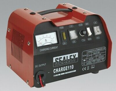 Sealey CHARGE110 Battery Charger 14Amp 12/24V 230V 2200mm Length Output Cables