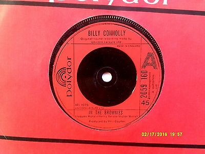 """Billy Connolly In The Brownies 7"""" Single 1979 N/mint"""