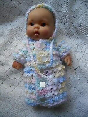 Doll Clothes bunting with hood fit Berenguer 8in. can be used as coat hooded 9in