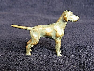 Solid Gray Cast Metal German Shorthaired Pointer Dog Figurine/Figural/Sculpture