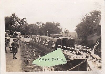 Old Photo Writer Ltc Rolt Narrow Boat Cressy Iwa Waterways Canal Barge 1940S