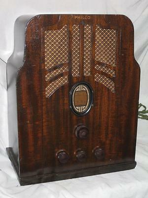 "Philco ""Tombstone"" Radio, Model 610, 5 Tubes, AM & SW, Restored Electronically"