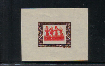 Romania 1946 Women's Democratic Federation Air miniature sheet unmounted mint