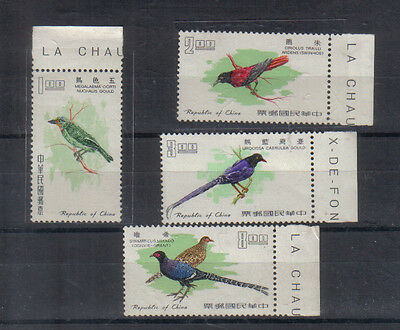 Taiwan 1967 Birds Four values to $8 unmounted mint