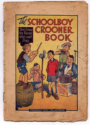 Schoolboy Crooner Book Presented with The Hotspur D C Thomson Comic c1936