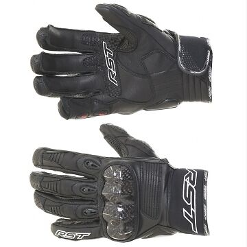 RST Freestyle Black Leather Sports Motorcycle Gloves