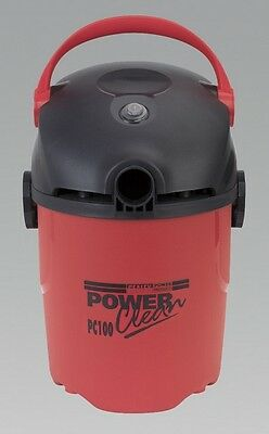 Sealey PC100 Vacuum Cleaner Wet & Dry 10Ltr 1000W/230V Cleaning Home Garage