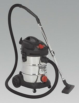 Sealey PC300SDAUTO Vacuum Cleaner Industrial 30L 1400W/230V Cleaning Home Garage