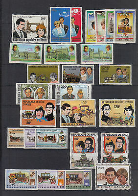 Former French Colonies 1981 Royal Wedding Twelve unmounted mint sets