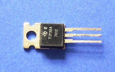 10 x TIP30A Silizium Transistor PNP 115V 2A 30W TO220  TEXAS INSTRUMENTS