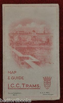 L.C.C. Trams Map and Guide 1924