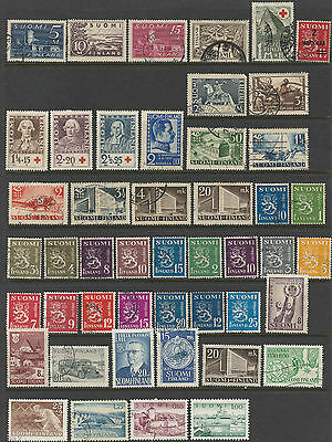 Finland selection of 48 stamps mostly used
