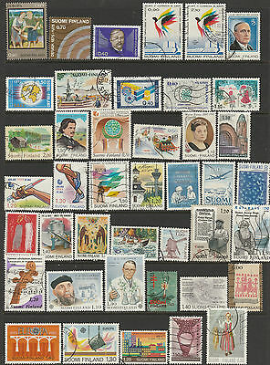 Finland 48 stamps mostly used