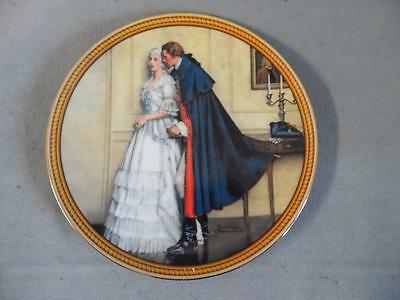 "Knowles 'The Unexpected Proposal ' 9.5""  Decorative Plate  Norman Rockwell"
