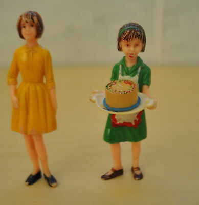 2 Vintage Dolls House Dolls Made By Marx Toys