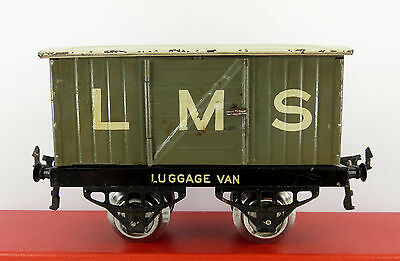 Early ( 1924 ) Hornby Series O Gauge Lms Luggage Van ( Good Condition