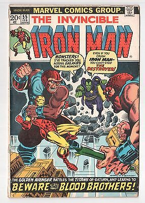 Iron Man #55 (1968 Series) 1st Thanos & Drax The Destroyer Jim Starlin 1973 GD