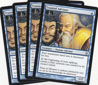 4 x Trusted Advisor common creature from Saviors  (magic the gathering)
