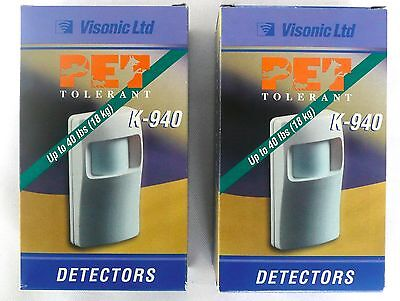 (LOT OF 2) Visonic K-940 Detector Animal Immune PIR Pet Tolerant Up To 40 lbs