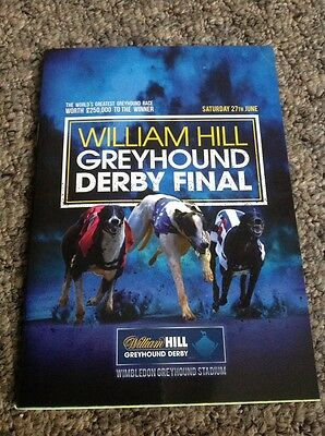 Greyhound Derby Final Programme 2015 - Mint Condition