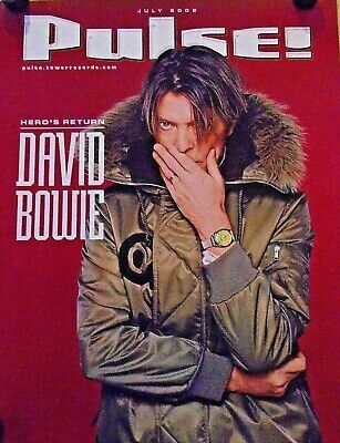 """David Bowie / Orig. Promo poster / Pulse magazine Cover / New cond. 18 x 22"""""""