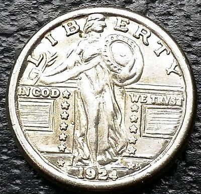 Vintage Novelty Miniature 1924 Standing Liberty Quarter Coin - Free Combined S/H