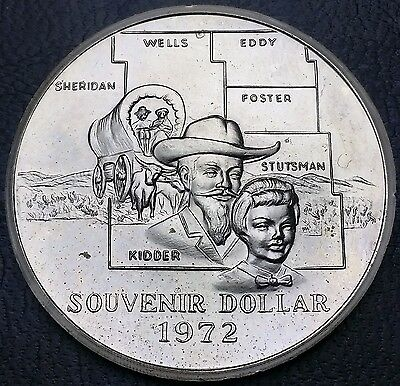 1972 Central Dakota Coin Club Souvenir Dollar - Mint Condition