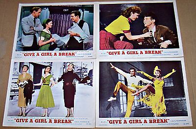 Give A Girl A Break (1953) Debbie Reynolds Musical Lot Of 4 Original Lobby Cards