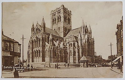 NORWICH, Catholic Church of St.John, Norfolk - 1930 - Vintage postcard