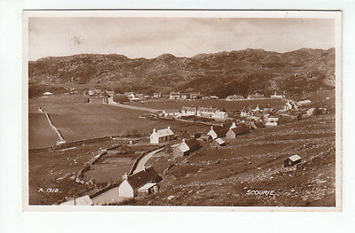 Scourie Village Sutherland 1935 Real Photograph Valentines A1912 Old Postcard