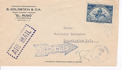 Airmail cover, Honduras, Scott #C136, pair C144, internal use, 1946