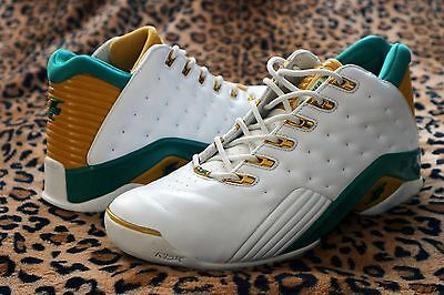 Allen Iverson The Answer 7 VII Low Realist White Green Yellow Like New Reebok