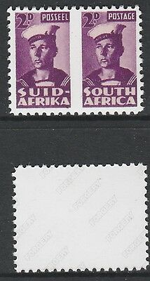 South Africa (731) 1942 Sailor pair missing roulett -  a Maryland FORGERY unused