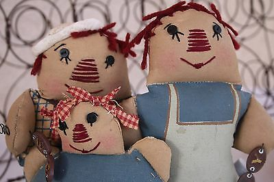 Raggedy Ann & Andy We Are Family Americana Rag Dolls New w Tags Doll Collectible
