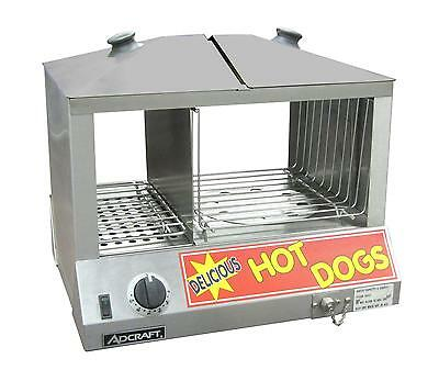 Adcraft HDS-1200W Countertop Hot Dog Steamer/Merchandiser & Bun Warmer 1200W