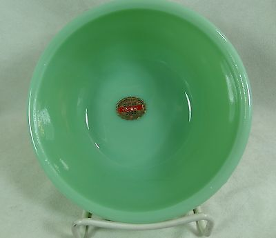 "Anchor Hocking Fire King 2000 6"" Mixing Bowl Jadeite Glass with Decal"