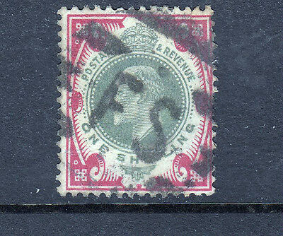 GB 1902 KEVII 1/- used with F S Cancel