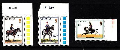 GUERNSEY 1975 High Value Military Unifoms Definitives.   MNH