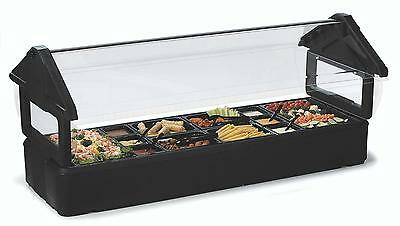Carlisle 6601 6ft Salad Food Bar Table Top Portable w/ Sneeze Guard