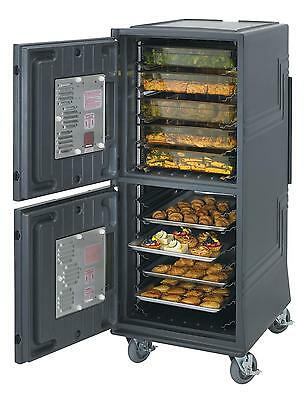 """Cambro CMBPTH*HD Combo Cart Plus Transport Cart 2"""" Casters w/ Heated Top Bin"""